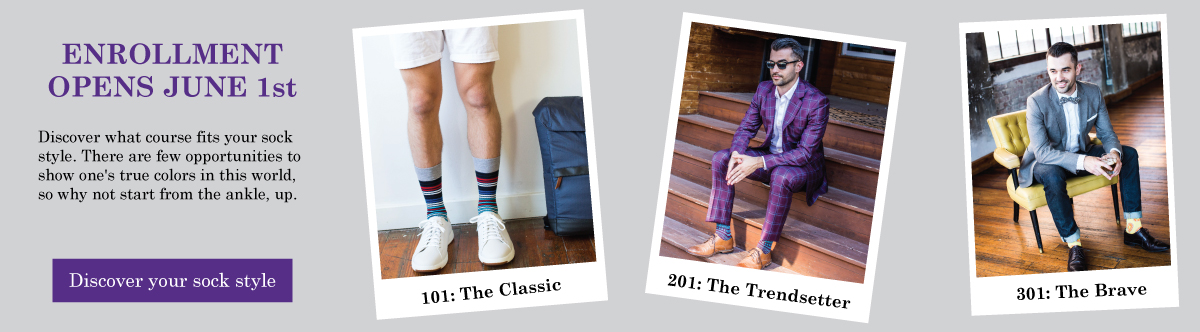 Sock 101 Sock of the Month Club Courses - June 2017